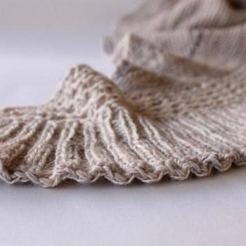 châle tricoté Lourmel, un nouveau châle tricoté contre le froid IMG 2692