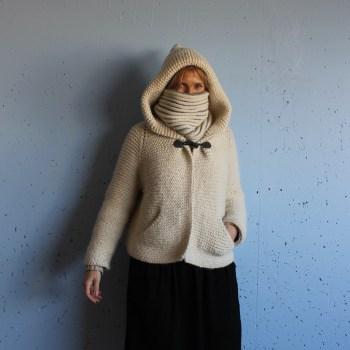 veste tricot femme Du point mousse…une veste IMG 1838