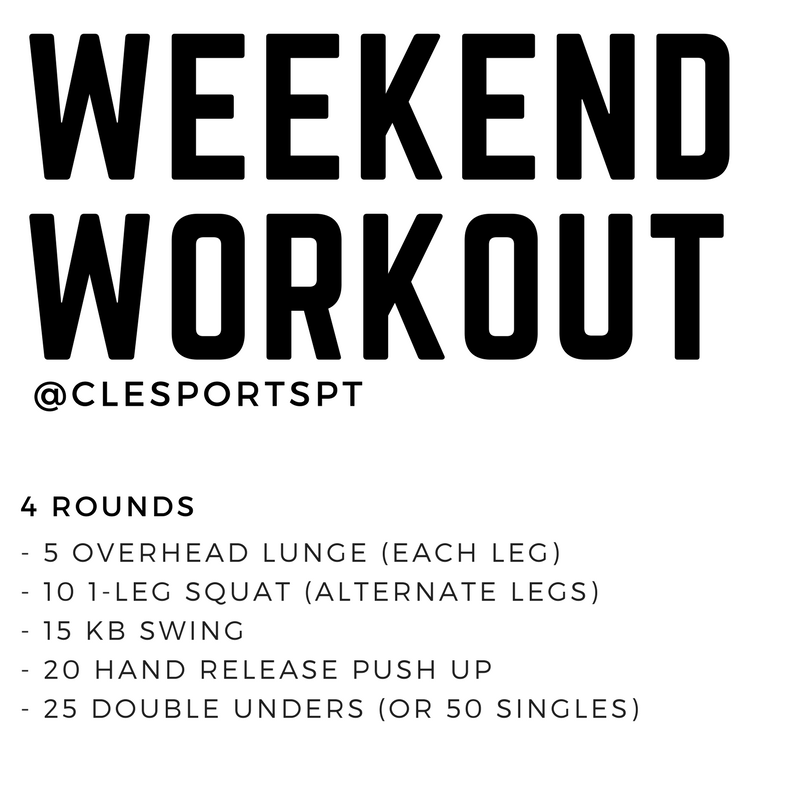 Weekend Workout March 9