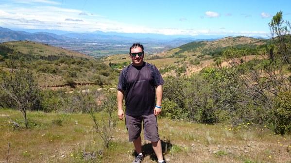 Aquí en una vista del valle de Colchagua