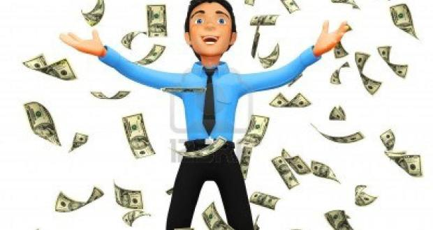 9788238-3d-business-man-under-a-dollar-rain--isolated-over-a-white-background