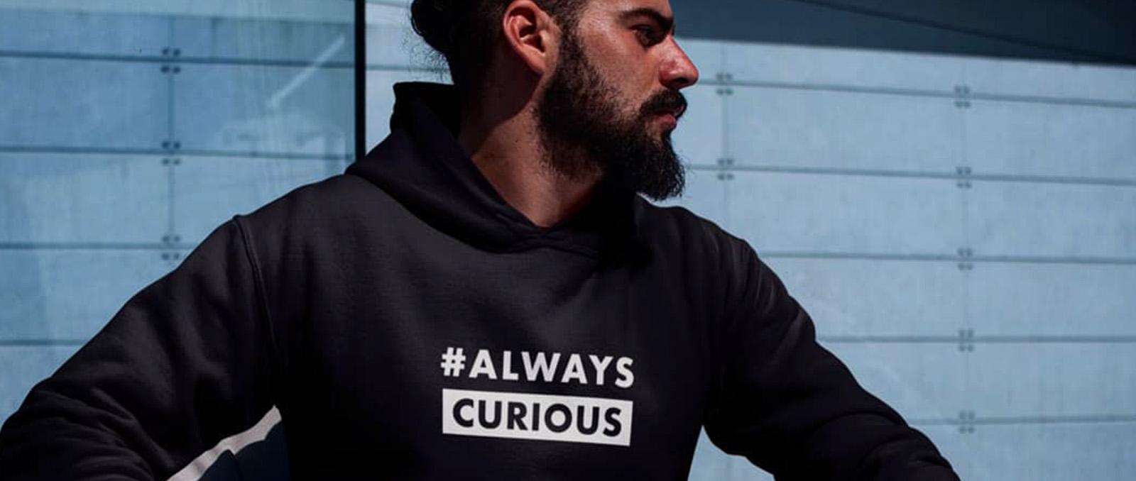 always curious hoodie