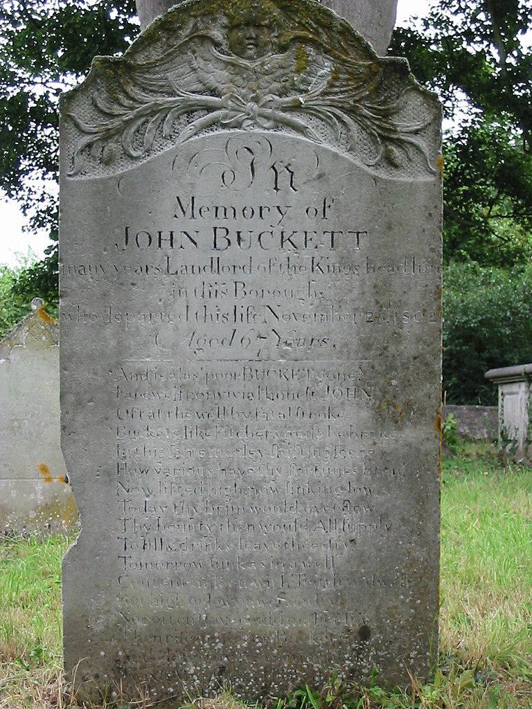 J. Buckett's tombstone