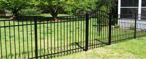 Steel Fence installed in Stoneham MA by Cleveland Fence Co.