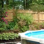 Northern White Cedar Stockade Fence