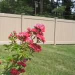 Tan Vinyl Residential Fence