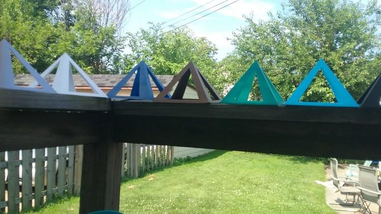 3-d Pyramids prints in color