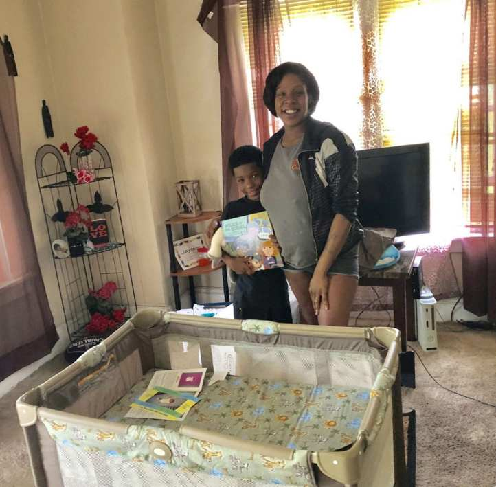 Candace and her 7 yr old son, Jason, are ready to welcome son Ryan into the family! Cops N Cribs was able to supply a new crib for the newborn!! The Cleveland Police Foundation and Cops for Kids purchase the cribs and deliver them to families in need based on referrals from Cleveland police officers!!