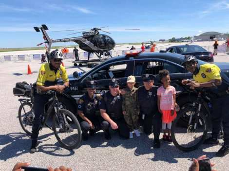 Cleveland Police officers from Community Policing and our Bike Patrol had the opportunity to participate in the Kids in Flight's Wings of Wonder at Burke Lakefront Airport!! This is a wonderful event giving kids sight seeing flight tours around Cleveland.