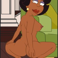 Naked Donna Tubbs shows her pretty butt