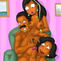 Cleveland Brown-colored taunting both damsels - Roberta and Donna Tubbs