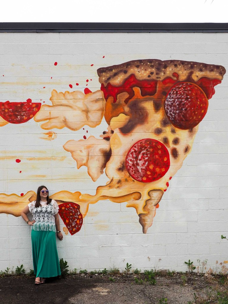 Pizza mural in Hingetown, Cleveland