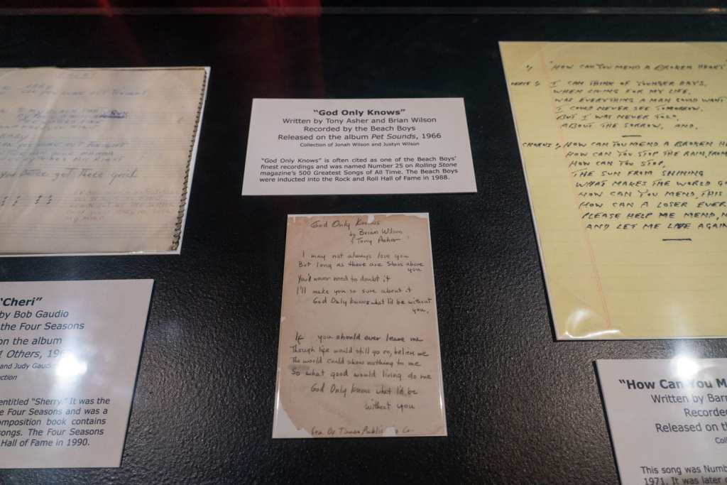 Lyrics at the Rock and Roll Hall of Fame