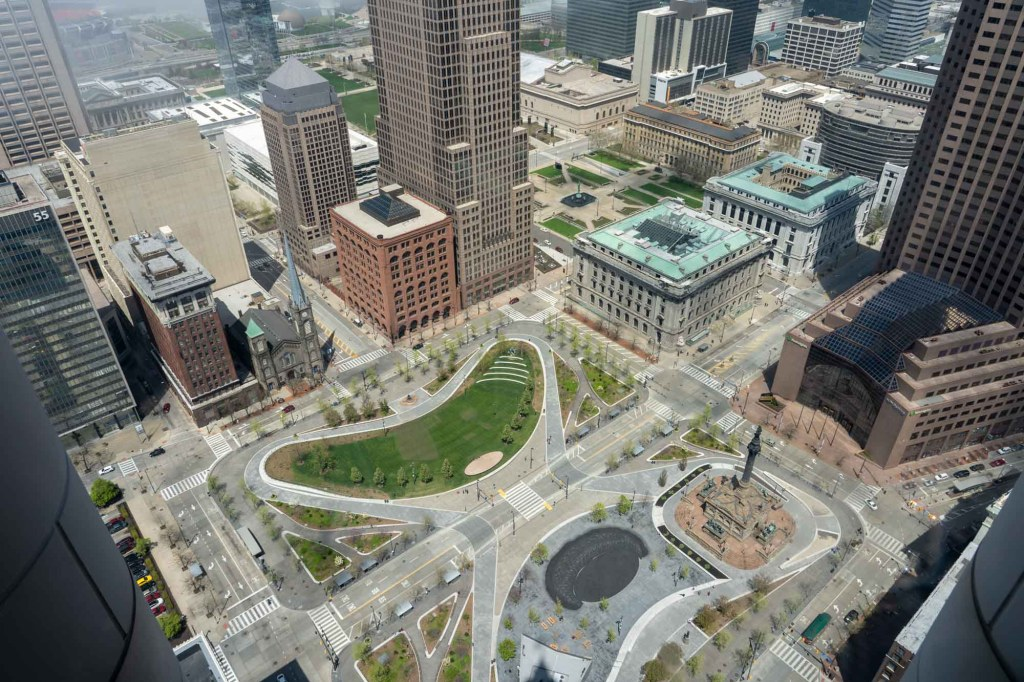 View of Public Square from Terminal Tower