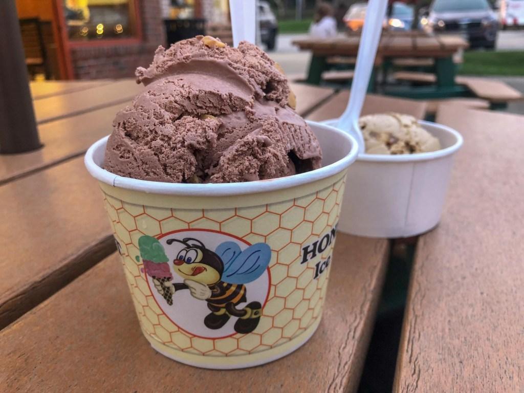 Cup of Honey Hut ice cream