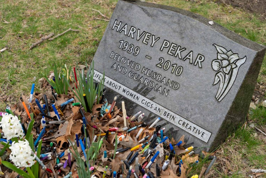 Harvey Pekar grave at Lake View Cemetery