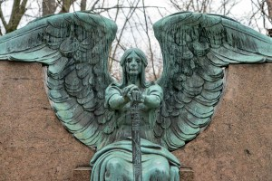 Haserot Angel at Lake View Cemetery