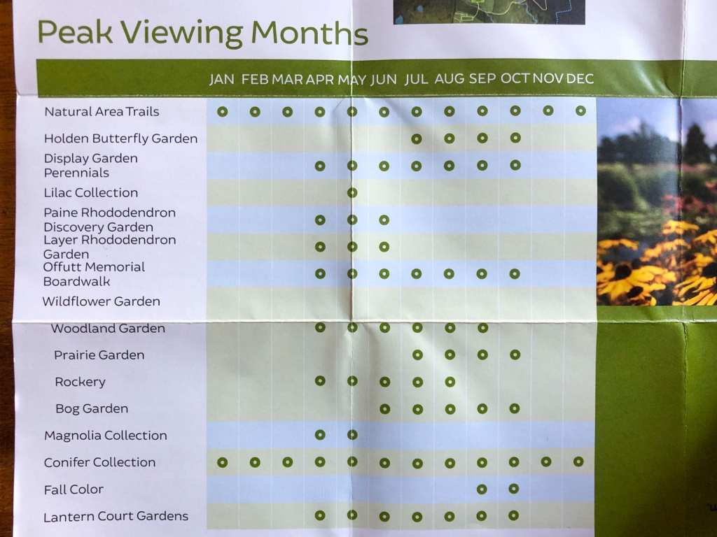 Peak viewing months at Holden Arboretum