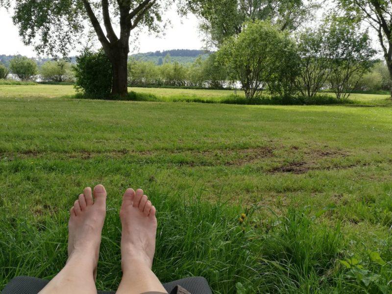 Füße hoch am Wiesensee