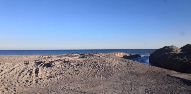 Am Nudistenstrand bei Puerto de Sagunt