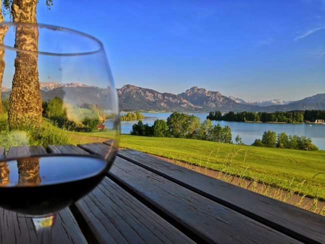 Abends am Forggensee