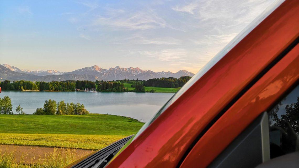 Bayerische Seen - Parkplatz am Forggensee