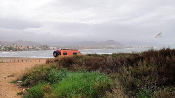 Am Hundestrand in Puerto de Mazarrón