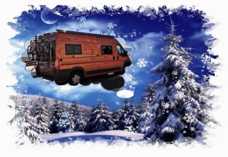 Winter im Kastenwagen