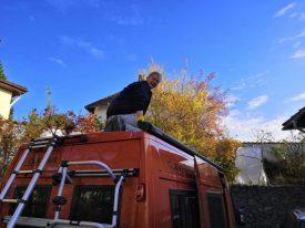 Dach putzen Kastenwagen
