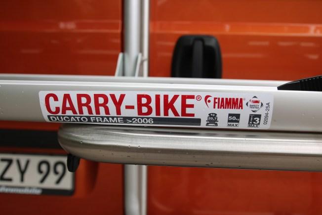 Fiamma Ducato Frame, Beschriftung
