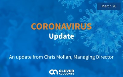 A statement on coronavirus and business continuity from Chris Mollan, Managing Director of Clever Accounts Ltd