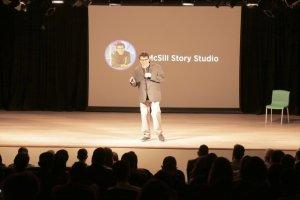 James McSill presenting