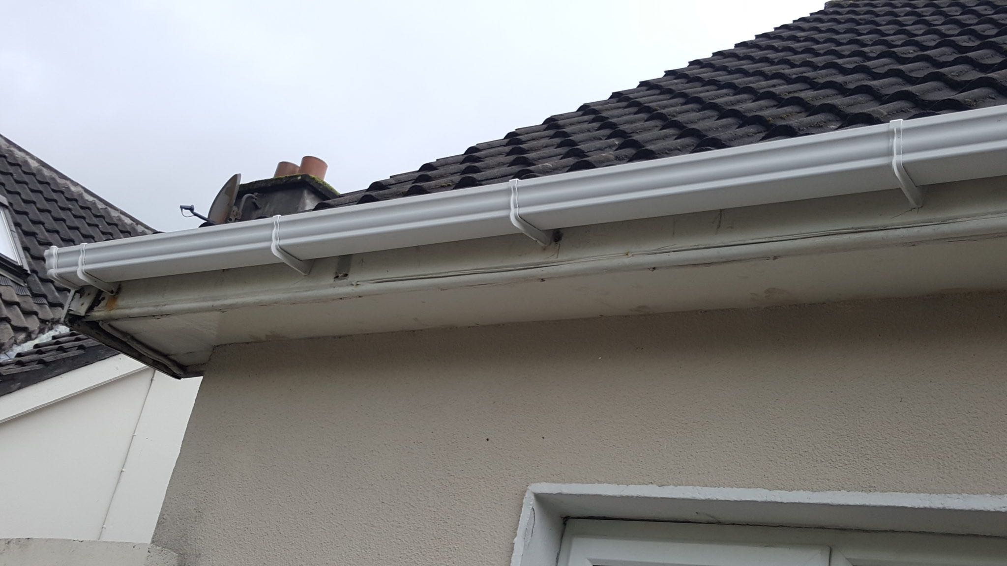 Fascia and guttering - after cleaning