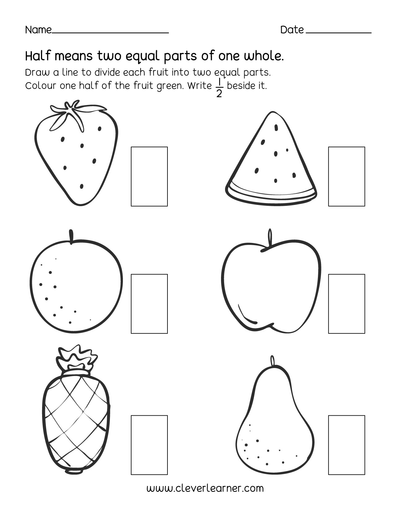 Parts Of A Set Fractions For Third Grade Worksheets