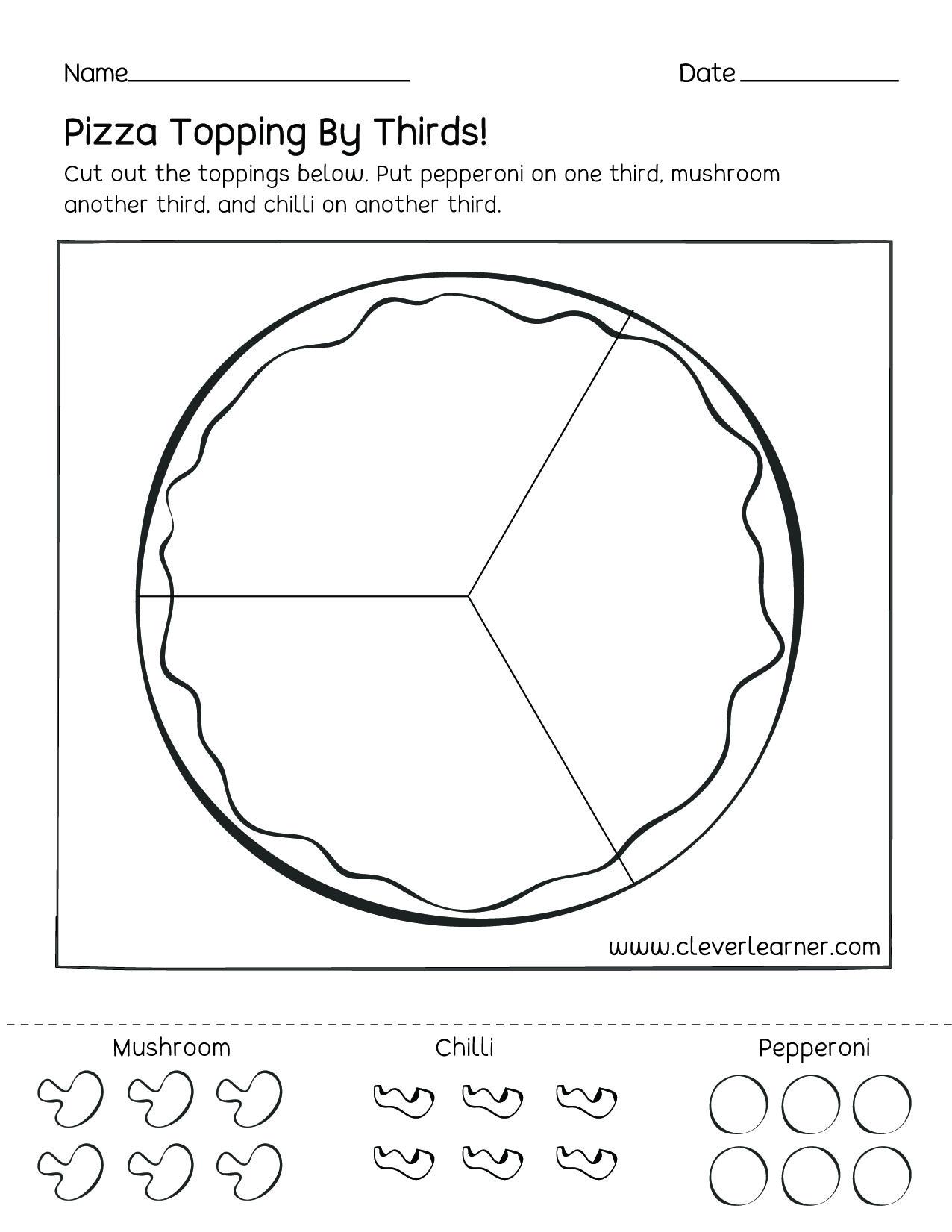 Pizza Toppings Worksheet Printable