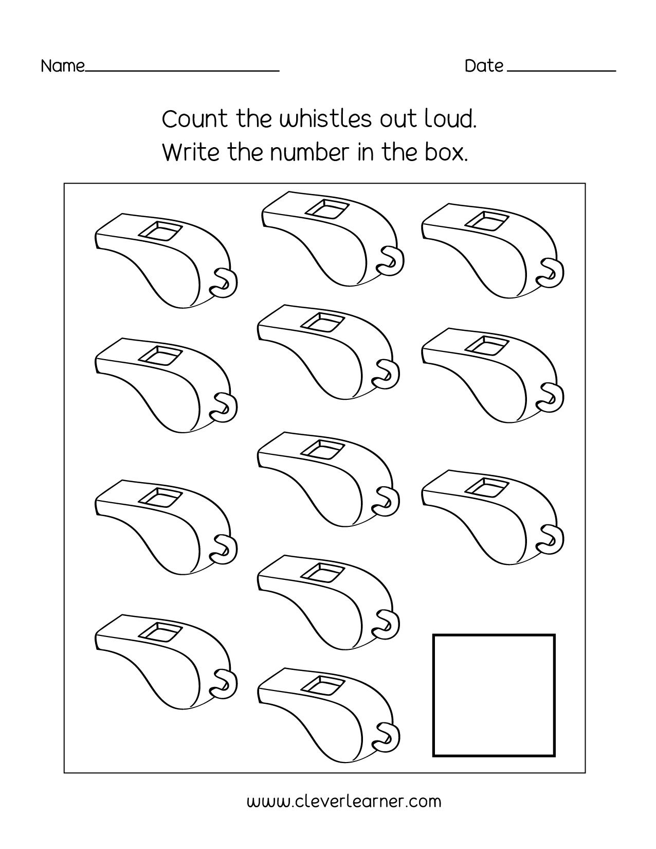 Printable Number 12 Worksheet Preschool