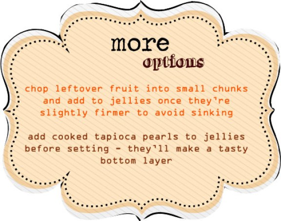 Serving Suggestions for Orange Jellies