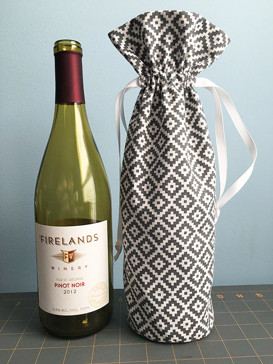 Fabric Wine Bottle Gift Bag Tutorial Clever Little Mouse