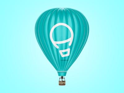 Air Balloon by LeoLogos.com   Smart Logos Designer