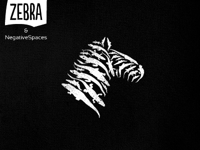 Zebra & negative space(s) by Srdjan Kirtic