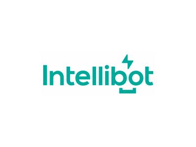 Intellibot, intelligent + robot, ai logo design by Alex Tass, logo designer