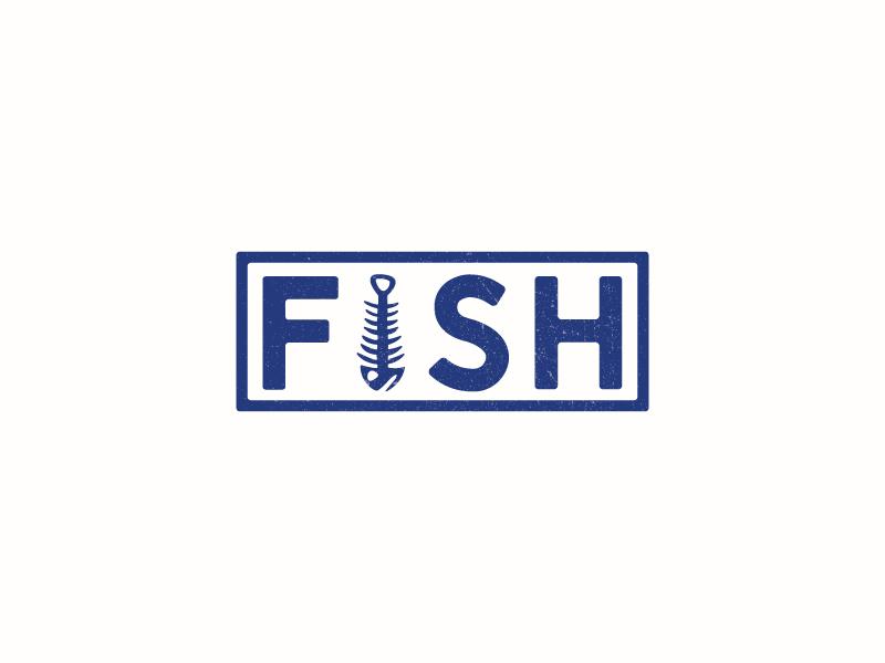 Fish Bone logo concept by Brian Dellorfon