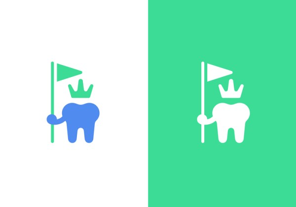 Toothland -Tooth as a king holding a flag by Type08-Alen Pavlovic