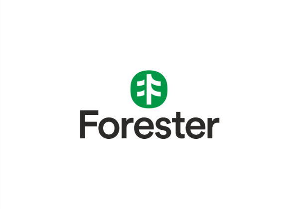 "Icon representing letter ""F"", looking like part of a forest. Forester Logo by Rokas Sutkaitis"