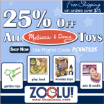 Melissa and Doug sell, 25% off exp 4/15 #deal #frugal