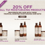 Today Only Get 20% off of Carol's Daughter Tui Hair Moisturizing Products Sale