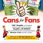 Like ShopRite's Facebook Page. For every like they receive, one can is donated to a local Food Bank.