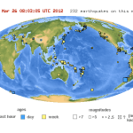 March 2012 Earthquakes Felt around the World: USA, Chile, Iran, France…
