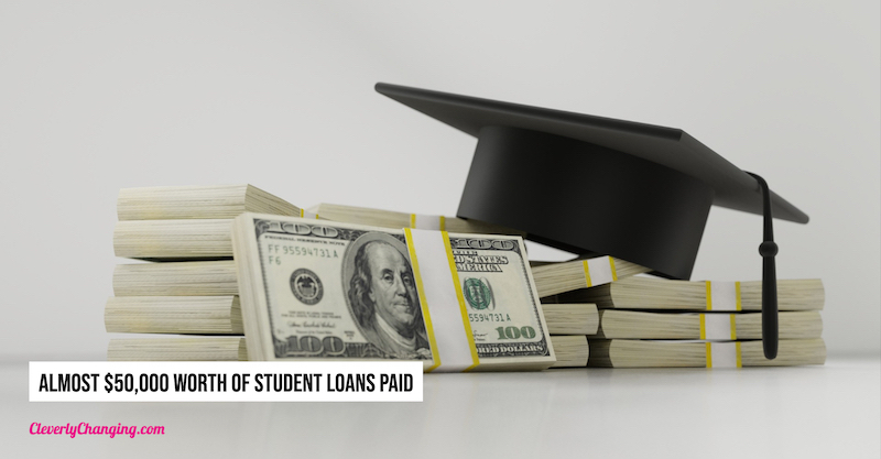 Almost $50,000 Worth of Student Loans paid