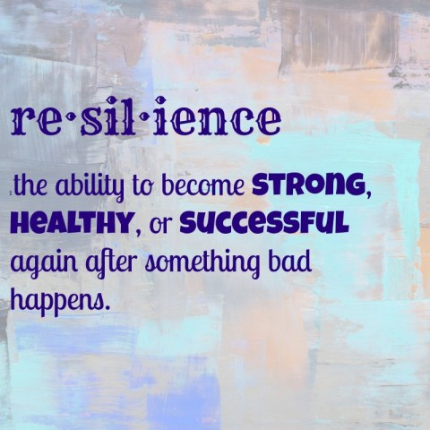 re·sil·ience is the ability to become strong, healthy, or successful again after something bad happens.